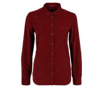Hemdbluse aus Feincord rot