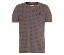 T-Shirt 'Stricherjunge' dunkelbraun