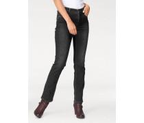 5-Pocket-Jeans 'Melanie Stitch' dunkelgrau