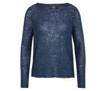 Pullover 'sequins' blau