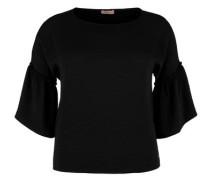 Bluse mit Volantärmeln schwarz