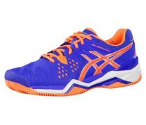 Tennisschuhe 'Gel-Resolution 6 Clay' blau / orange / weiß