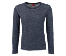 Meliertes Sweatshirt blau