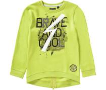 Sweatshirt für Jungen gelb / dunkelgrau