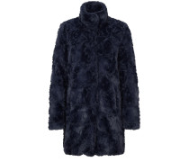 Warmer Fake Fur-Mantel blau