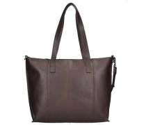 Belt Shopper Tasche Leder 31 cm braun / dunkelbraun