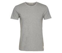 T-Shirt im unifarbenen Design 'Bunker' graumeliert
