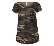 Shirt im Camouflage-Look beige / khaki