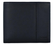 'Traveller' Geldbörse Leder 11 cm schwarz