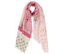 Schal rosa / weiß