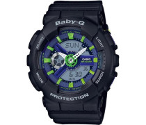 'Baby-G' Chronograph blau / grün / schwarz