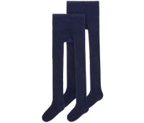 Tights 2er-Pack blau / dunkelblau
