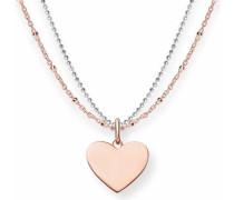 Kette mit Anhänger »Herz« rosegold / silber