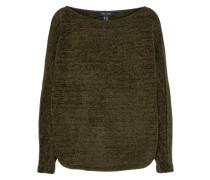 Off-Shoulder-Pullover 'chenille' khaki