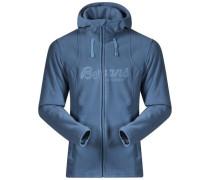 Fleece Jacke 'Bryggen' blau / himmelblau