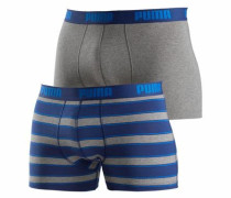 Boxer (2 Stück) 'Rugby Stripe' blau / grau