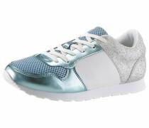 Sneaker türkis / silber / weiß