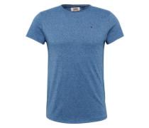 T-Shirt in Melange-Design blau