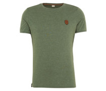 T-Shirt 'Halim Trabando' grünmeliert