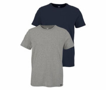 T-Shirt im 2er-Pack nachtblau / graumeliert