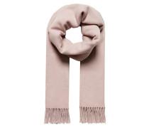 Wollschal mit Fransen pink
