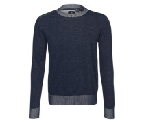 Strickpullover 'Core r plated knit l/s' blau