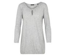 Tunika 'Jersey-blouse 3 4-sleeve round-neck' graumeliert