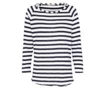 Longsleeve 'Heavy Jersey Longsleeve striped' nachtblau / weiß