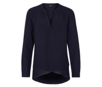 Long-Bluse mit Layering blau