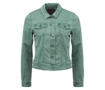 Colored Denim-Jacke grün