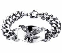 Edelstahlarmband »Adler« silber