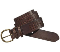 Hilfiger Denim Gürtel »Studded leather belt 2« dunkelbraun