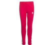 Leggings pink / weiß