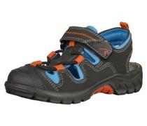 Sandalen blau / dunkelgrau / orange