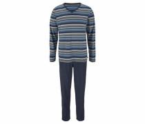 Pyjama lang navy / grau