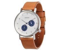 Armbanduhr 'Walther' hellbraun / weiß
