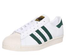 Low Sneaker 'Superstar 80s' weiß / dunkelgrün