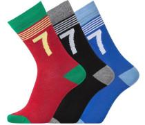Socke CR7 Boys Socks 3 pack blau / rot / schwarz