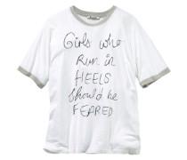 Print-Shirt »Heels« weiß