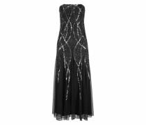 Abendkleid schwarz / silber