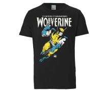 T-Shirt 'Wolverine - Marvel - Adamantium' schwarz