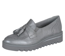 Loafer mit Plateausohle silber