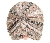 Leichte Mütze 'Caron Zig Zag' beige / anthrazit