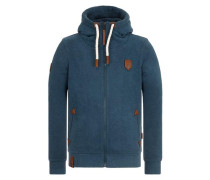 Male Zipped Jacket blau