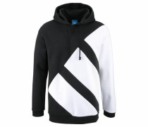 Kapuzensweatshirt 'pdx Hoody' schwarz / weiß