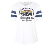 Baseball-Shirt 'Mountain Bear' weiß / blau