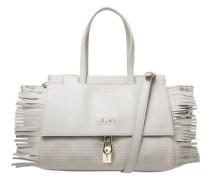 Handtasche beige / grau / weiß
