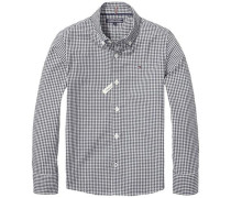 Hemd 'ame Small Gingham Shirt L/s' navy / weiß
