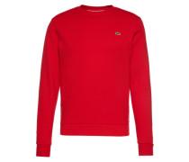 Sweatshirt mit Logo-Emblem rot