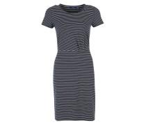 Jerseykleid mit Streifen blau